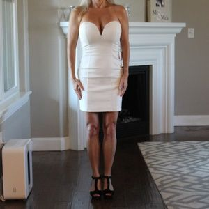 NWTBy the Way X REVOLVE White Strapless Dress XS